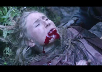 Jordan Coombes bleeds out. Vikings season 4.