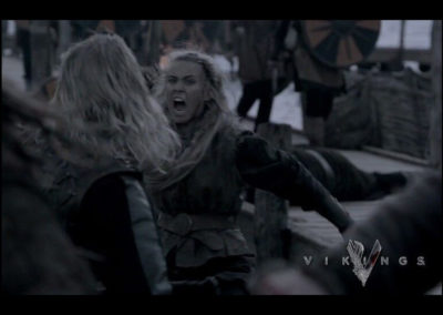 Jordan Coombes in action, Vikings Season 3.