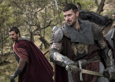 Tristan McConnell and Richard Armitage in 'Pilgrimage'. XYZ Films.